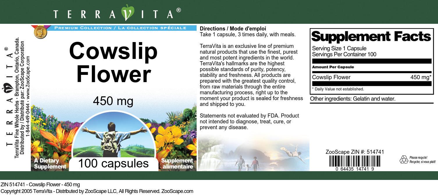 Cowslip Flower - 450 mg