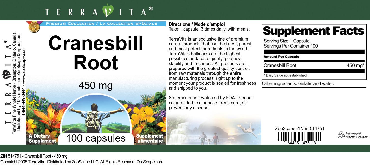 Cranesbill Root - 450 mg