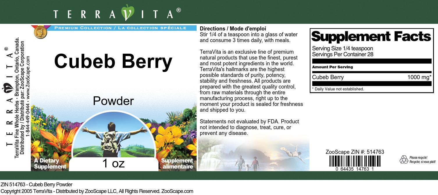 Cubeb Berry Powder