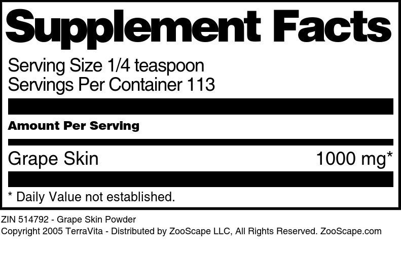 Grape Skin Powder