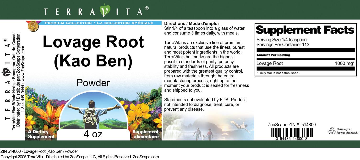 Lovage Root (Kao Ben) Powder