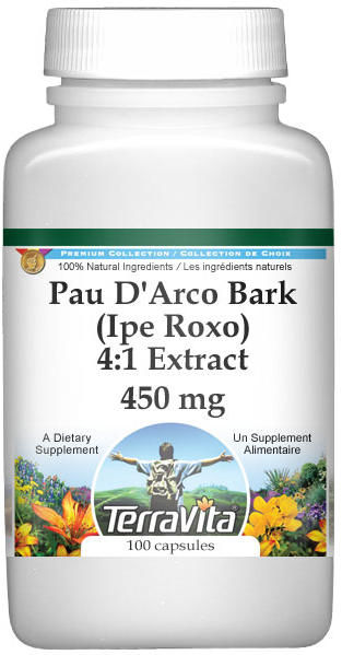 Pau D'Arco Bark (Ipe Roxo) 4:1 Extract - 450 mg