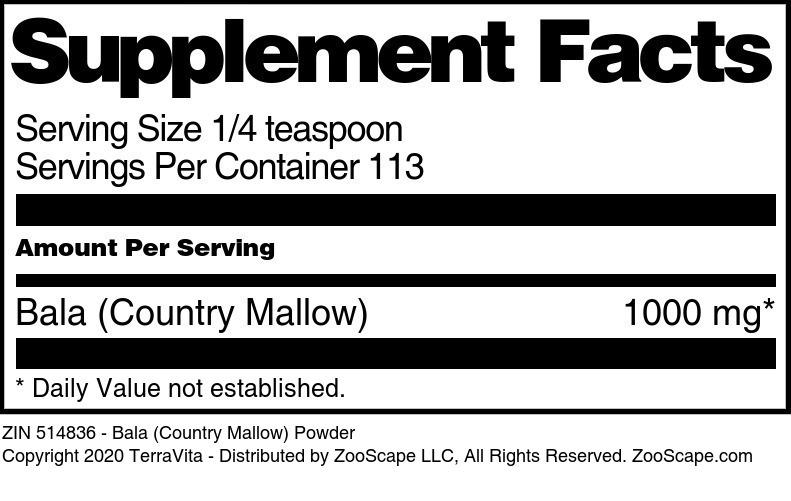 Bala (Country Mallow) Powder