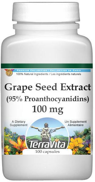 Grape Seed Extract (95% Proanthocyanidins) - 100 mg