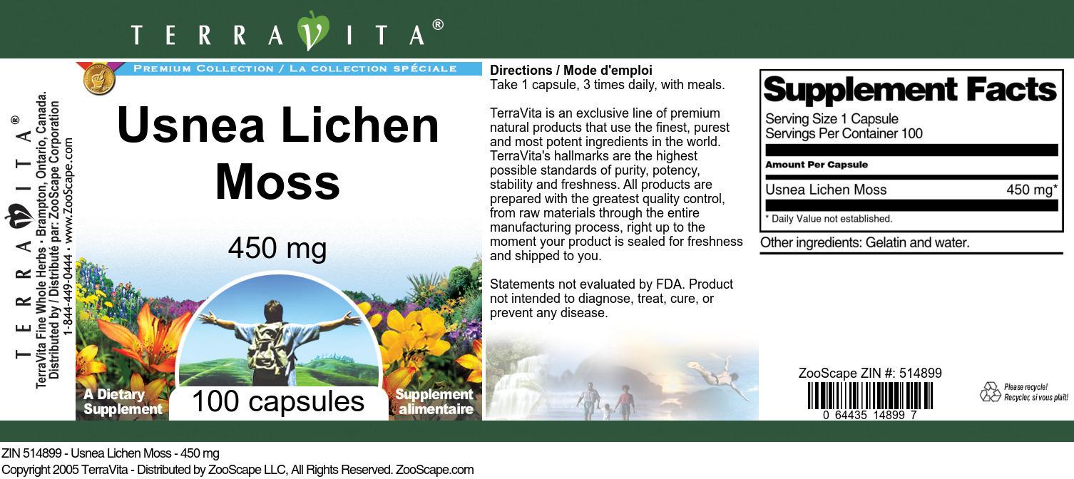 Usnea Lichen Moss - 450 mg