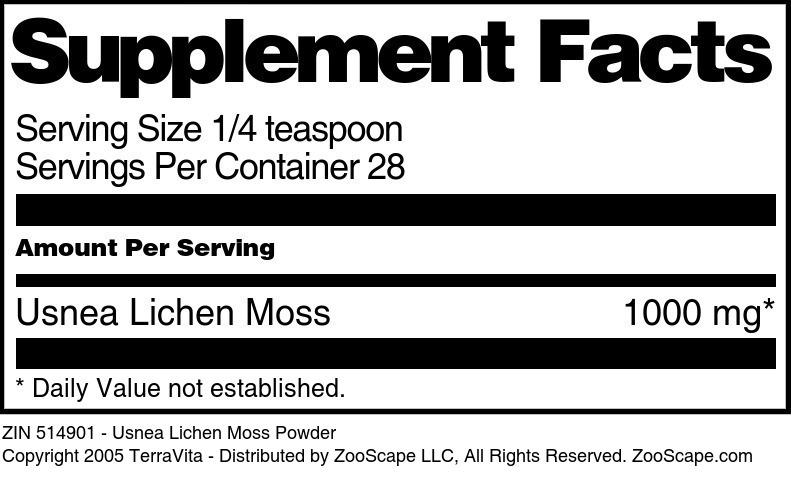 Usnea Lichen Moss Powder