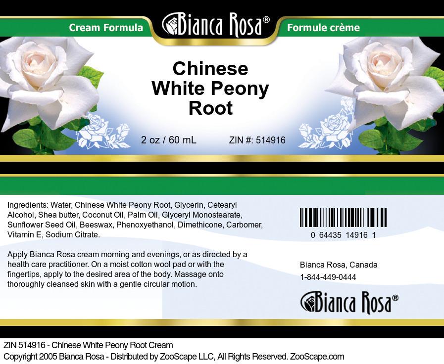 Chinese White Peony Root Cream