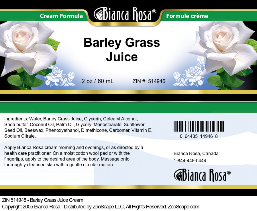 Barley Grass Juice Cream