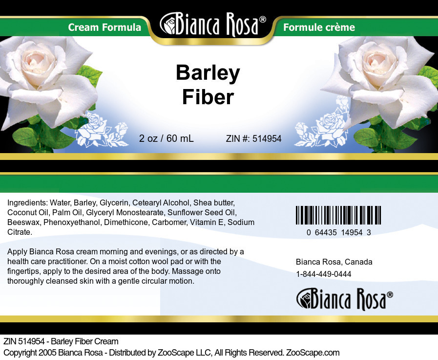 Barley Fiber Cream