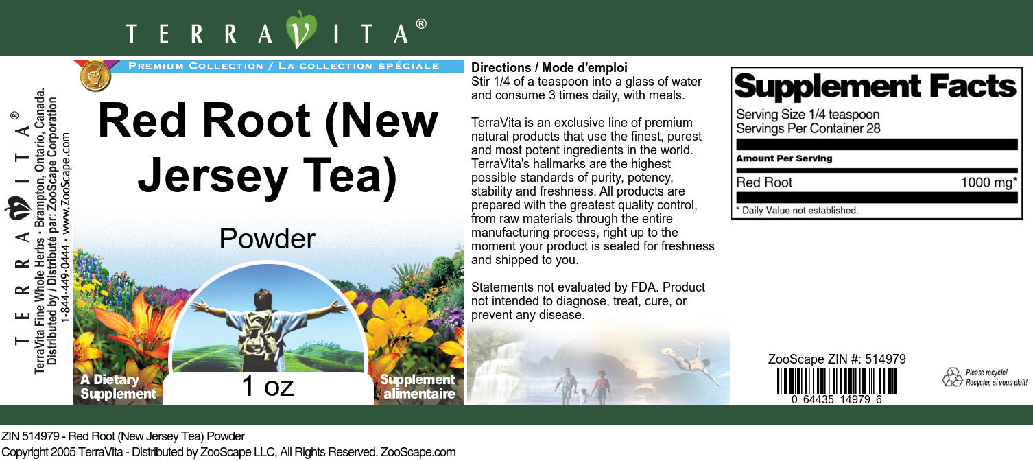 Red Root (New Jersey Tea) Powder