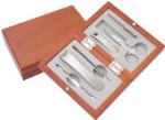 Manicure Set - Wooden Case - 6 Implements
