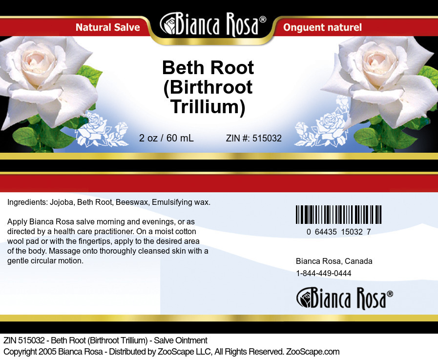 Beth Root (Birthroot Trillium) - Salve Ointment