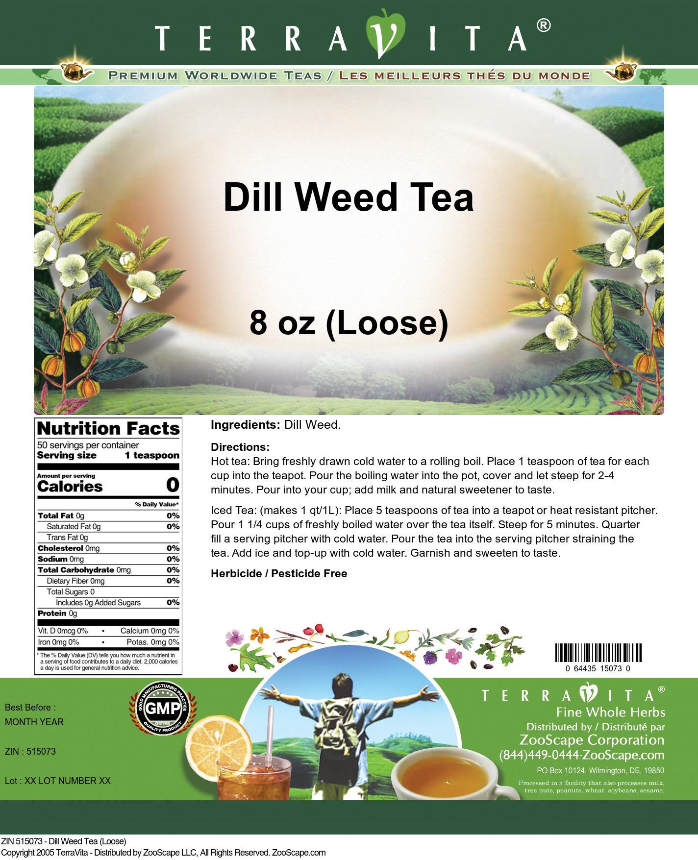 Dill Weed Tea (Loose)
