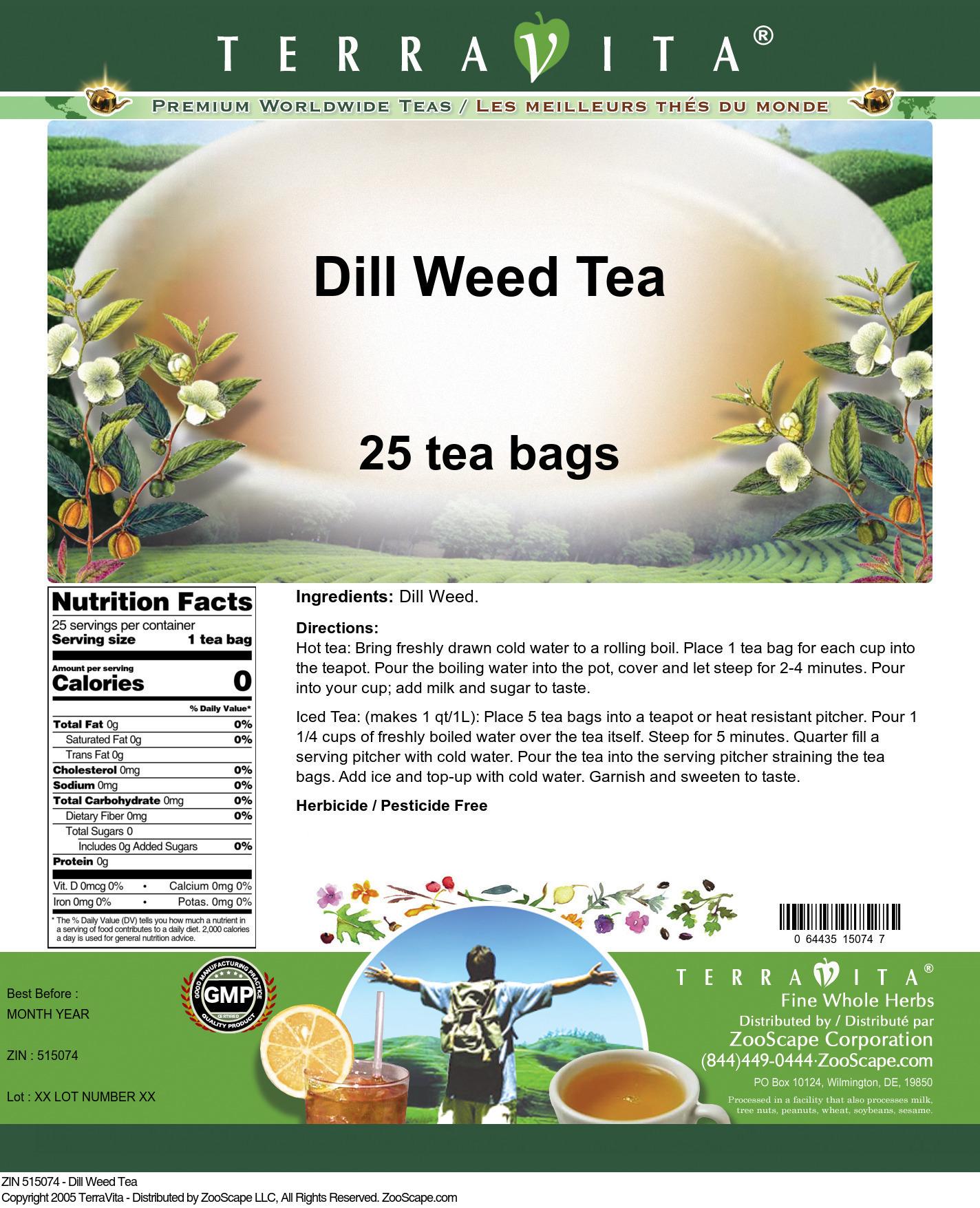 Dill Weed Tea