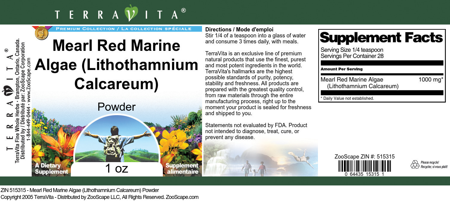 Mearl Algae <BR>(Lithothamnium Calcareum)