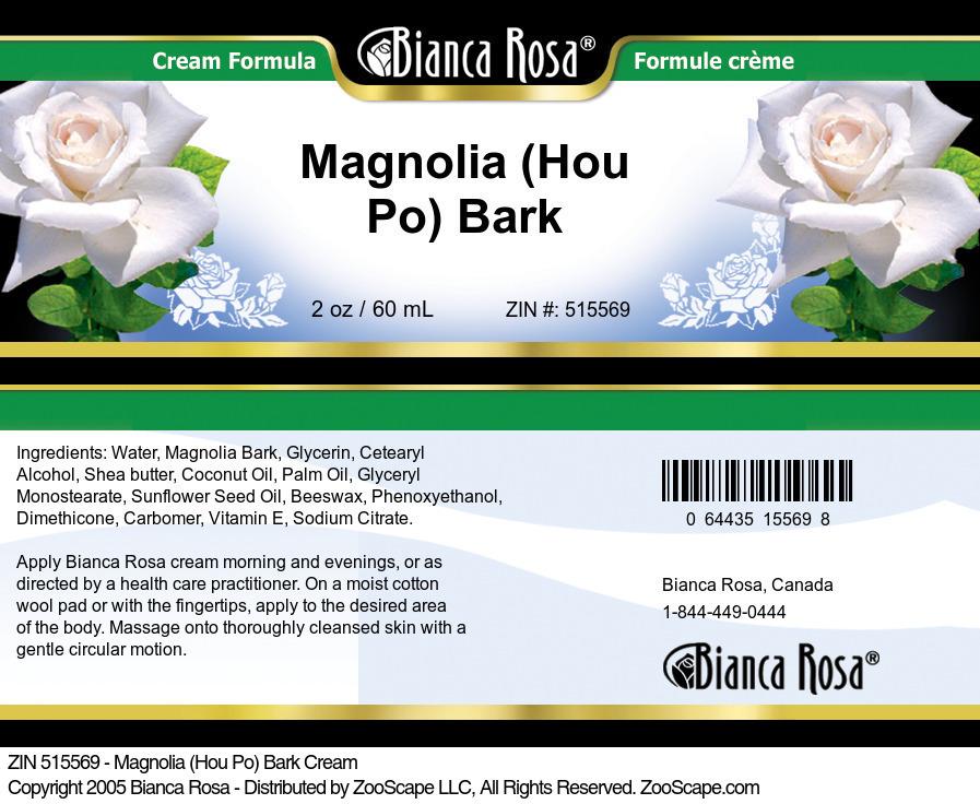 Magnolia (Hou Po) Bark Cream