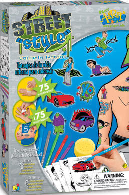Street Style Color-In Tattoos