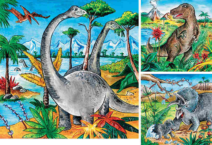 Dinosaurs - 49 Pieces - Set of 3
