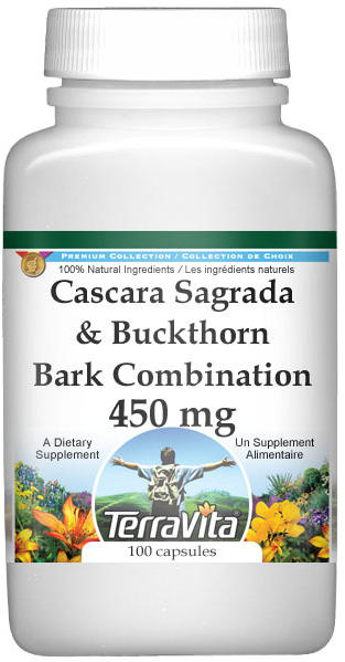 Cascara Sagrada and Buckthorn Bark Combination - 450 mg