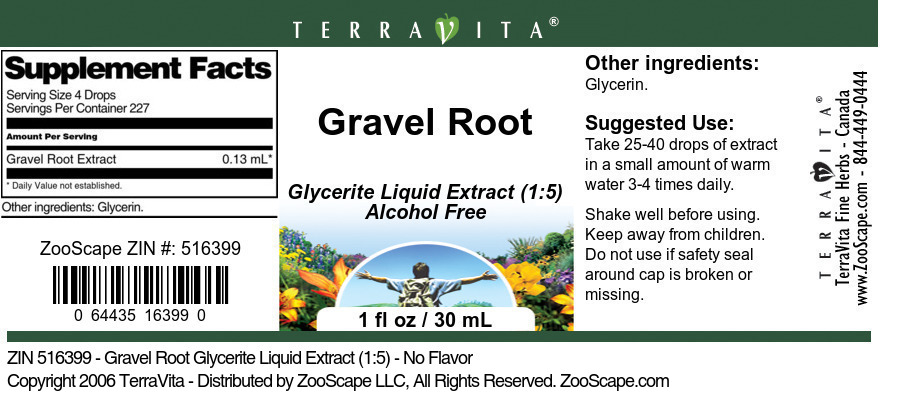 Gravel Root Glycerite Liquid Extract (1:5)