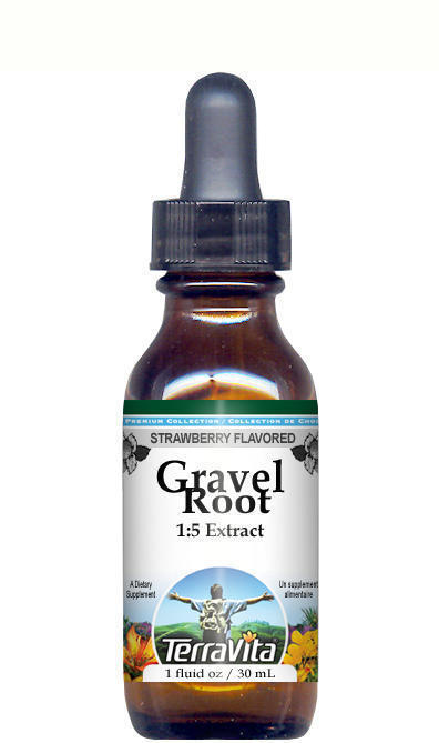 Gravel Root Glycerite Liquid Extract (1:5) - Strawberry Flavored
