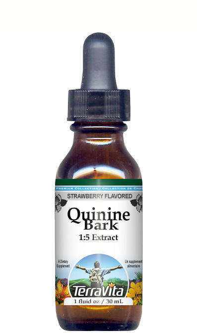 Quinine Bark (Red Cinchona) Glycerite Liquid Extract (1:5) - Strawberry Flavored