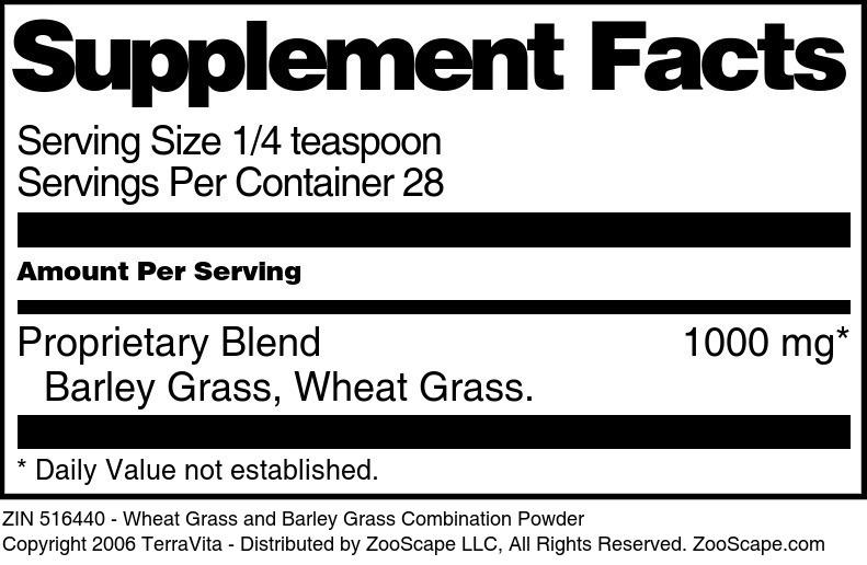Wheat Grass and Barley Grass Combination Powder