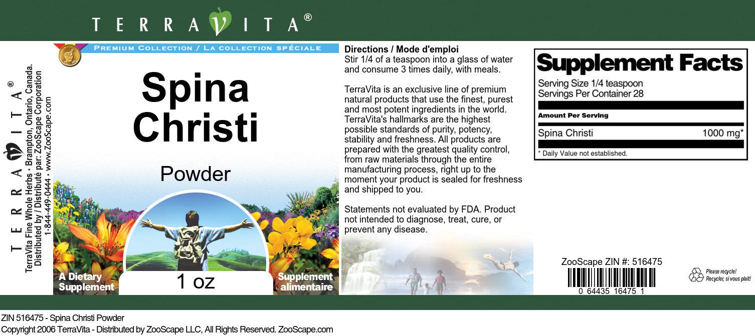 Spina Christi Powder - Label