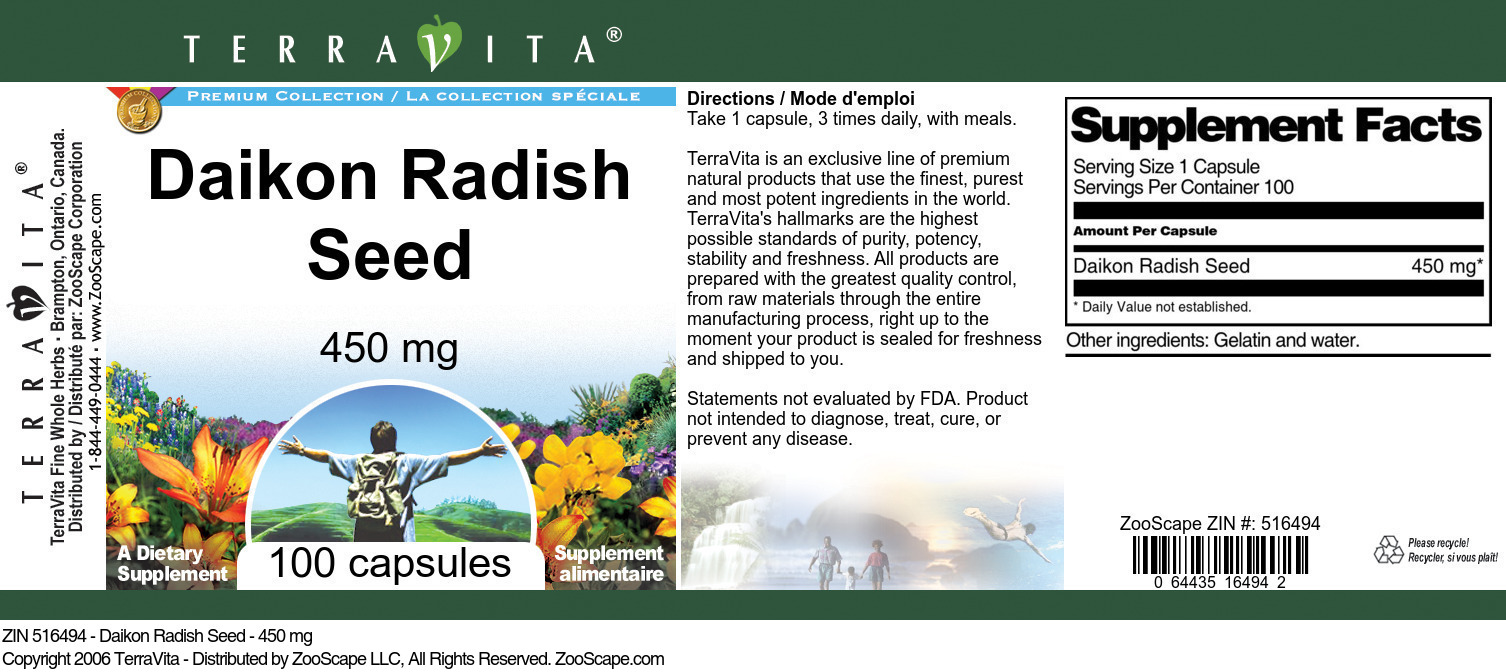 Daikon Radish Seed - 450 mg