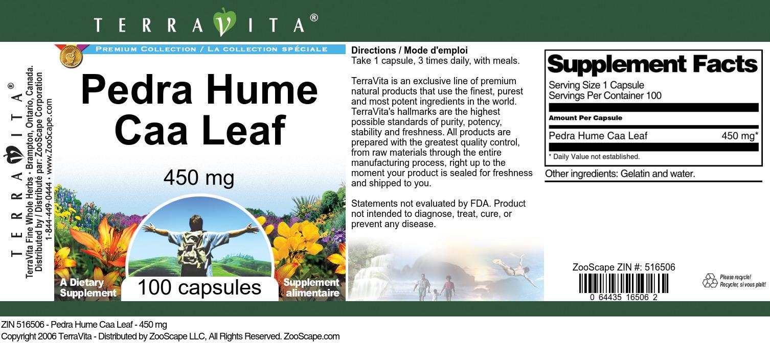 Pedra Hume Caa Leaf - 450 mg