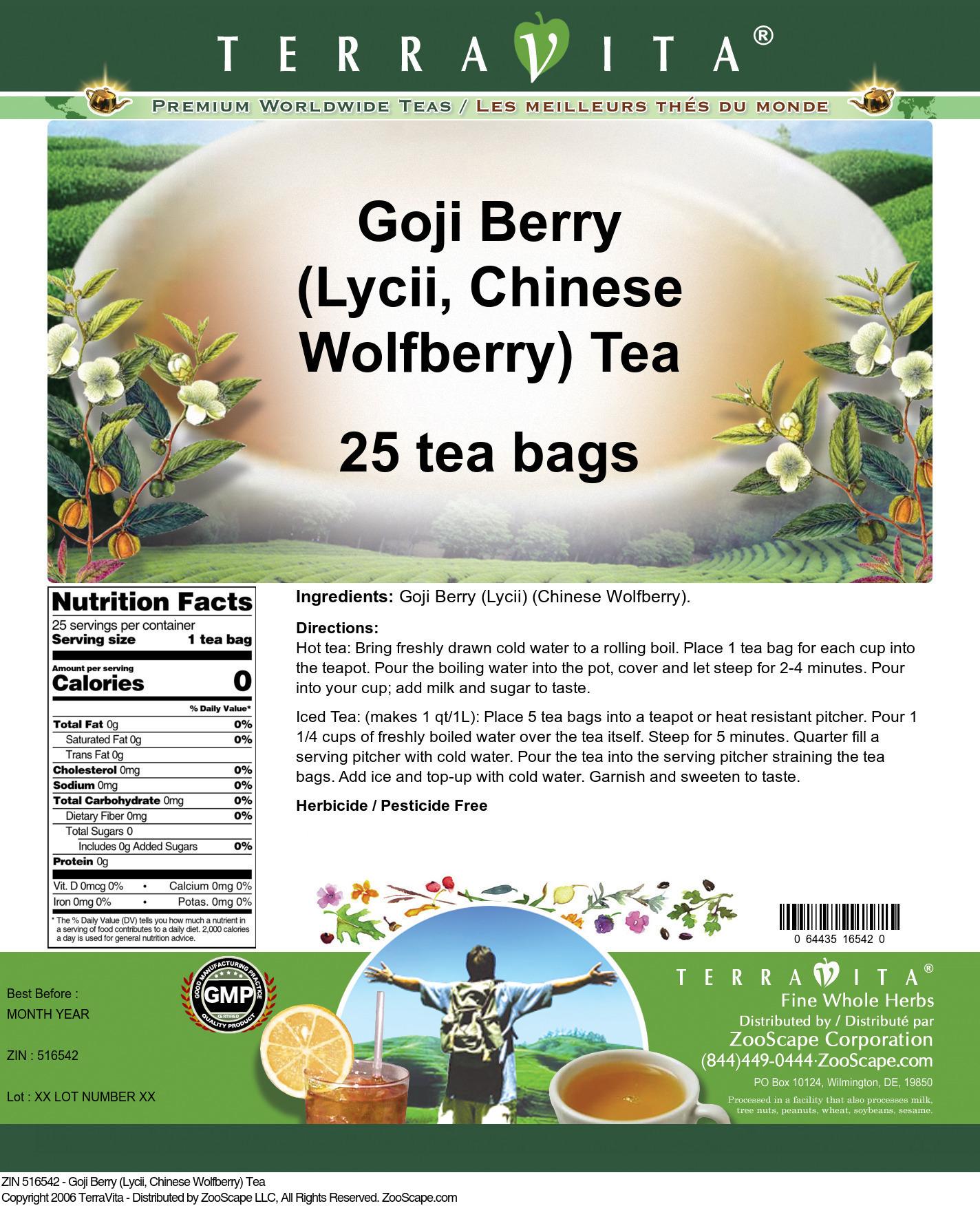 Goji Berry (Lycii, Chinese Wolfberry) Tea