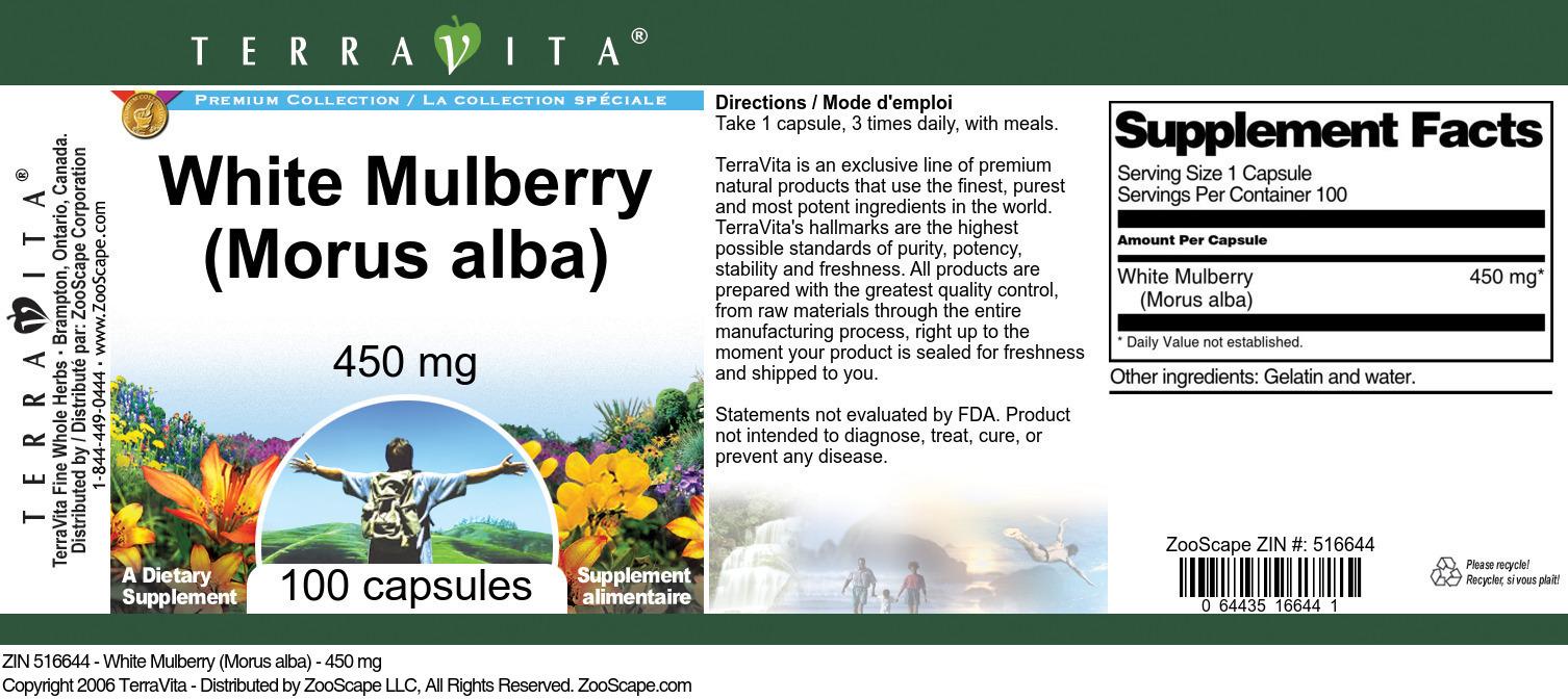 White Mulberry (Morus alba) - 450 mg