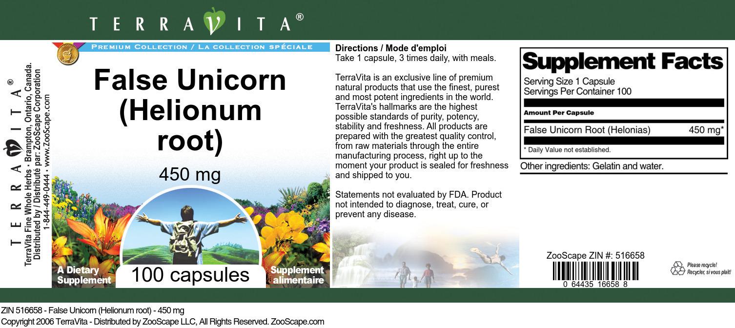 False Unicorn (Helionum root) - 450 mg