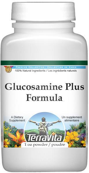 Glucosamine Plus Formula - Glucosamine, Cat's Claw and Devil's Claw - Powder