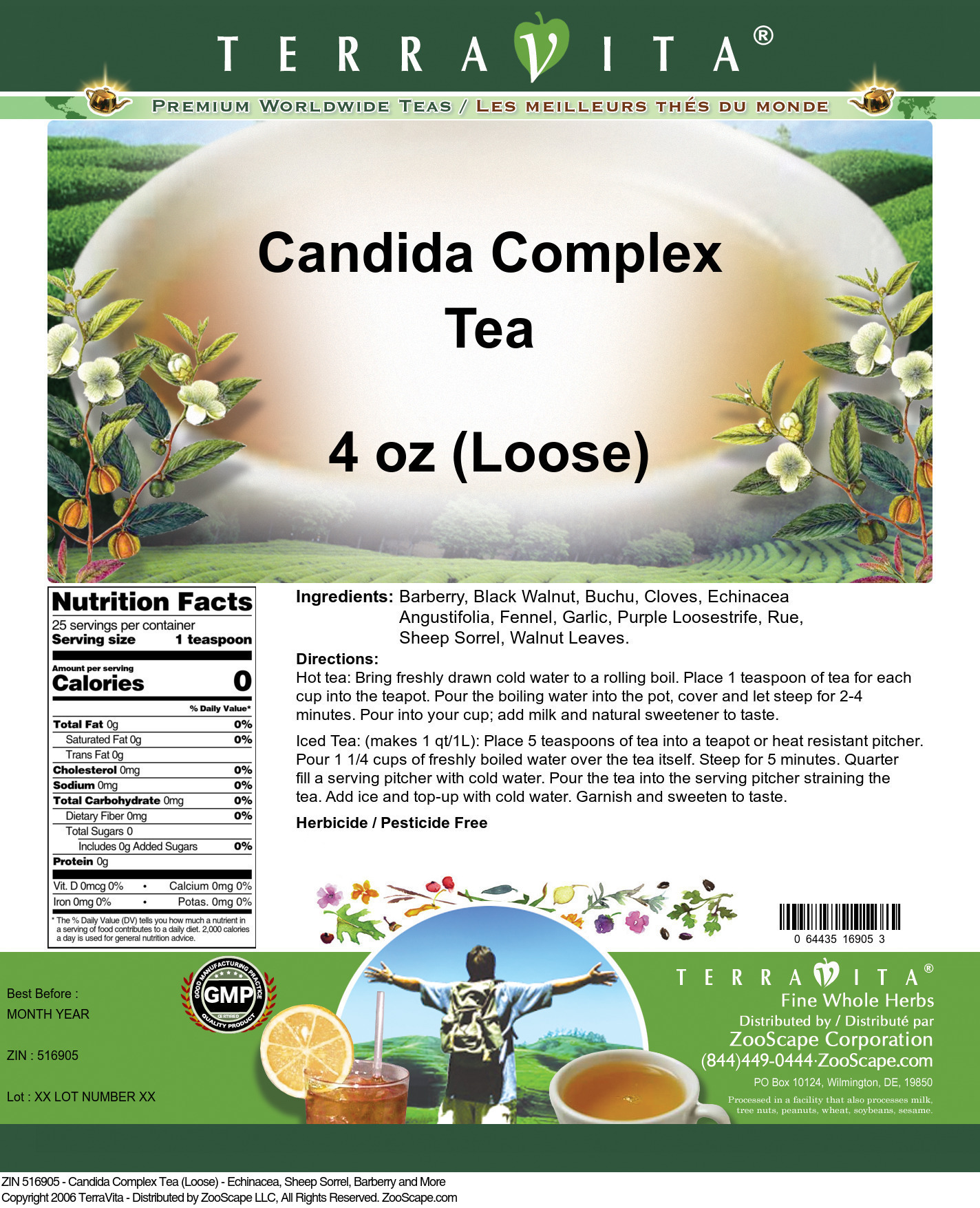Candida Complex Tea (Loose) - Echinacea, Sheep Sorrel, Barberry and More