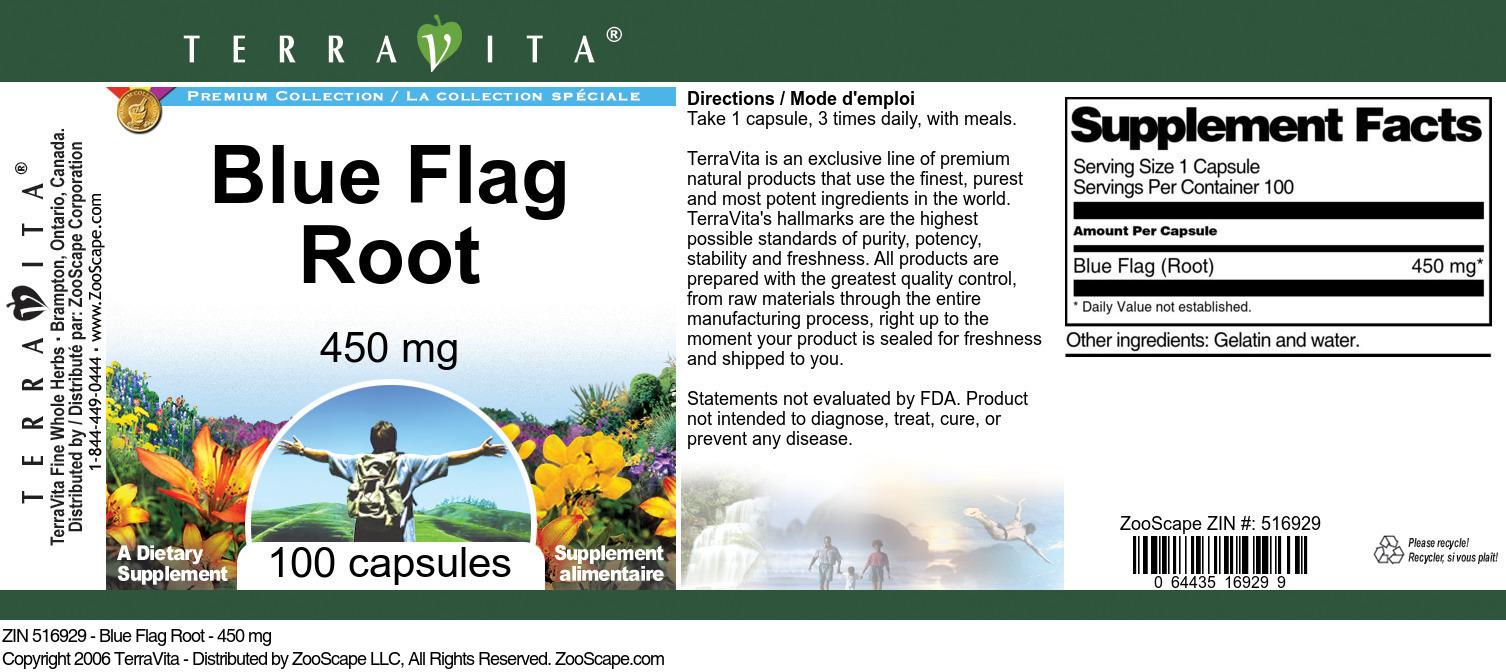 Blue Flag Root - 450 mg