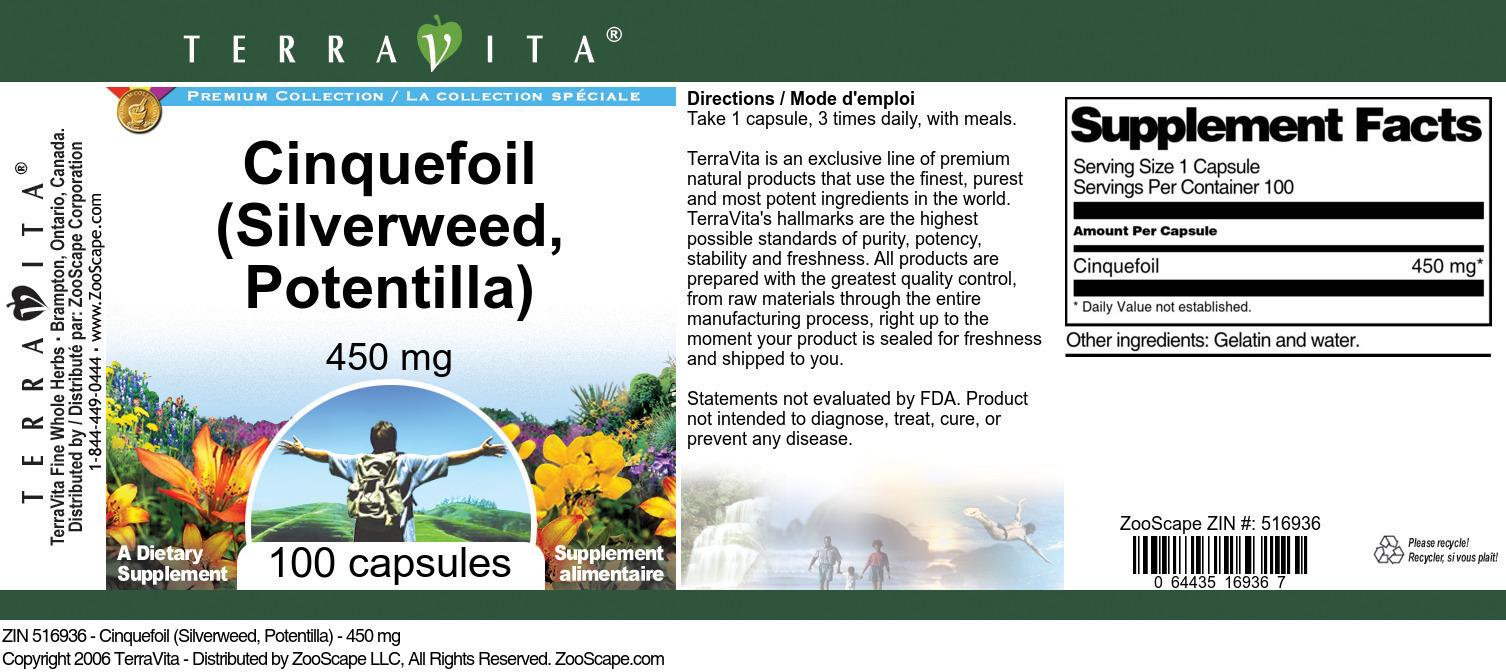Cinquefoil (Silverweed, Potentilla) - 450 mg