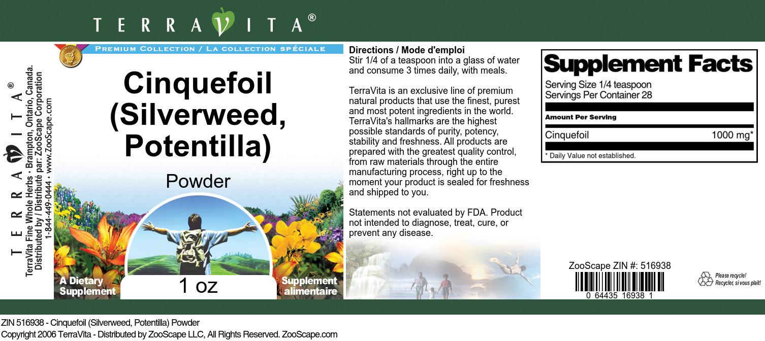 Cinquefoil (Silverweed, Potentilla) Powder