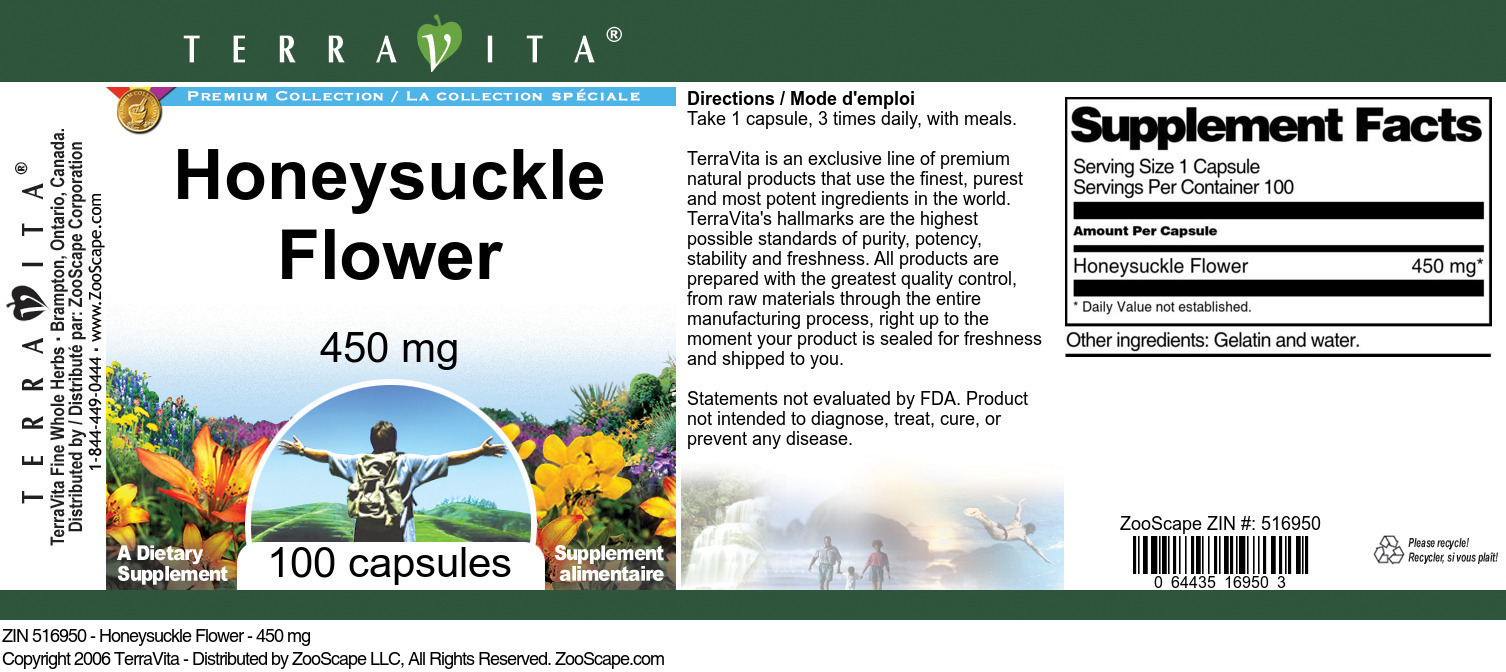 Honeysuckle Flower - 450 mg