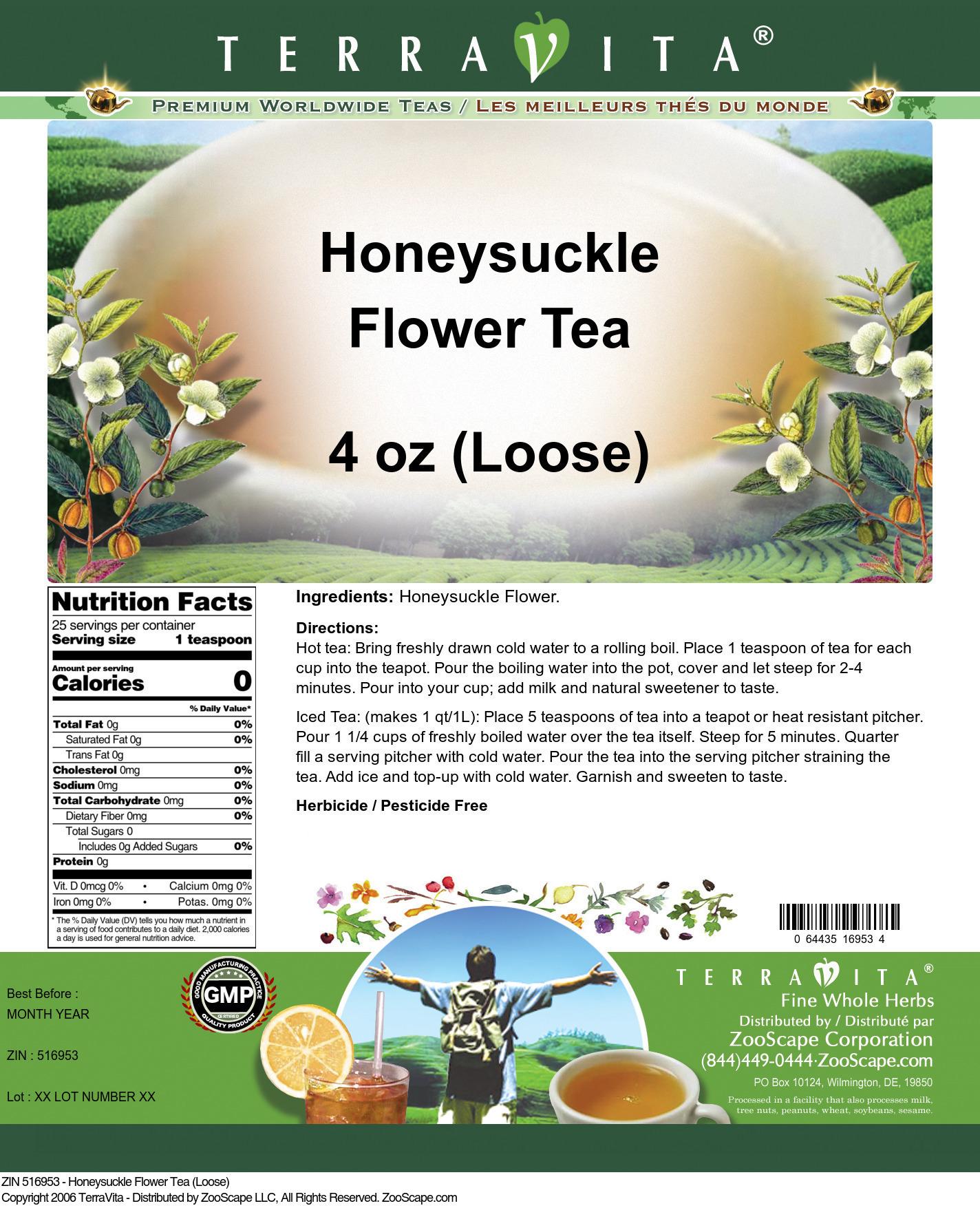 Honeysuckle Flower Tea (Loose)