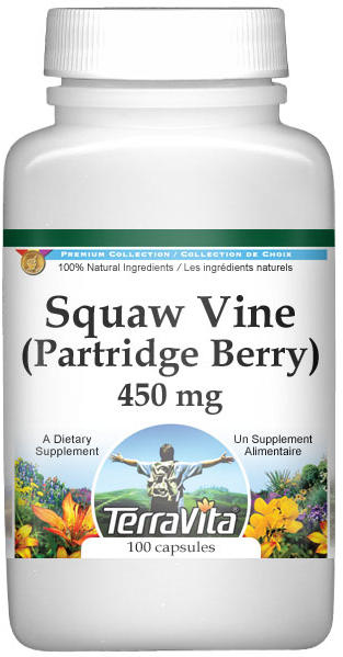 Squaw Vine (Partridge Berry) - 450 mg
