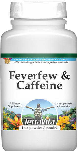 Feverfew and Caffeine Combination Powder