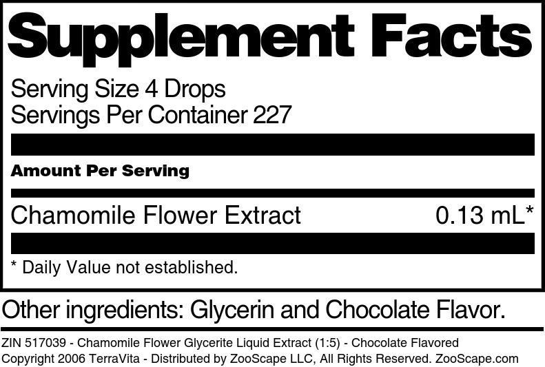 Chamomile Flower Glycerite Liquid Extract (1:5)