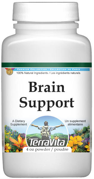 Brain Support Powder - Ginkgo, Cat's Claw, Rosemary and More