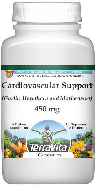 Cardiovascular Support - Garlic, Hawthorn and Motherwort - 450 mg