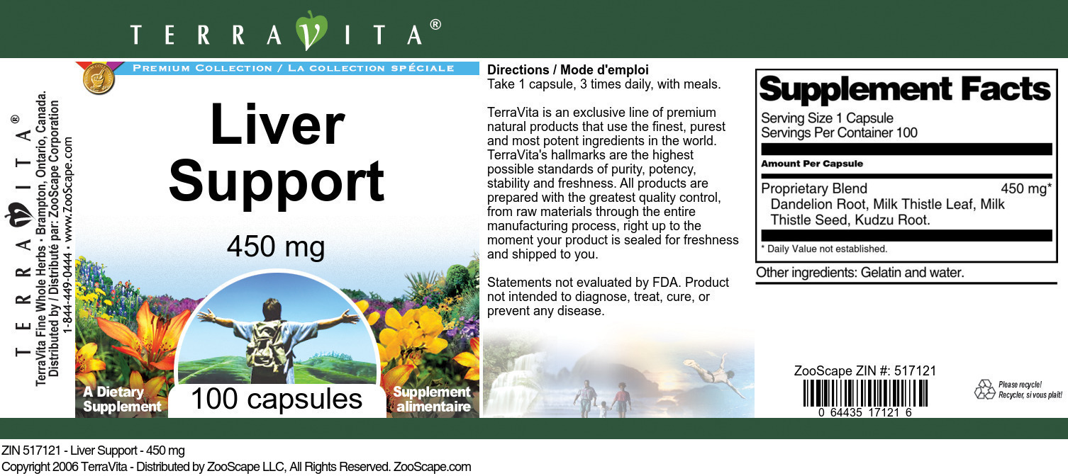 Liver Support - 450 mg - Label