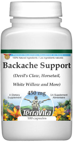 Backache Support - Devil's Claw, Horsetail, White Willow and More - 450 mg