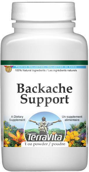 Backache Support Powder - Devil's Claw, Horsetail, White Willow and More