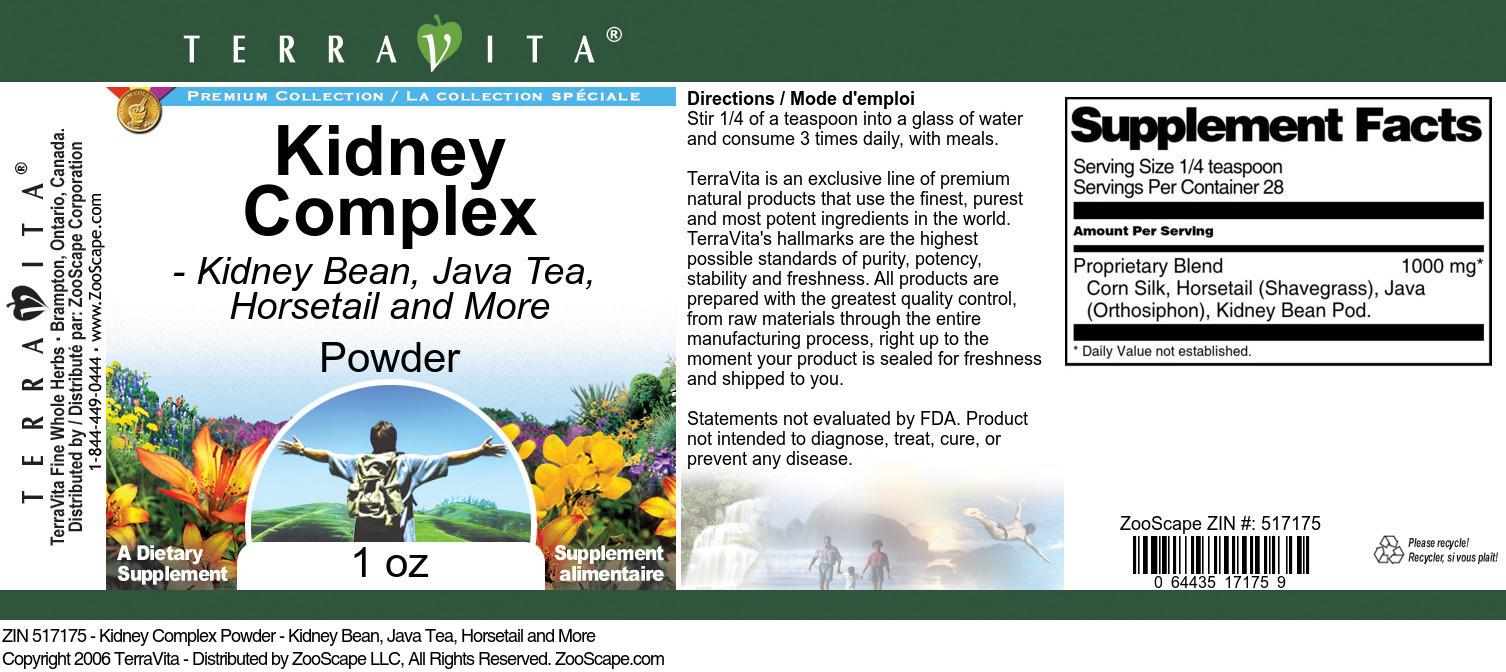 Kidney Complex Powder - Kidney Bean, Java Tea, Horsetail and More