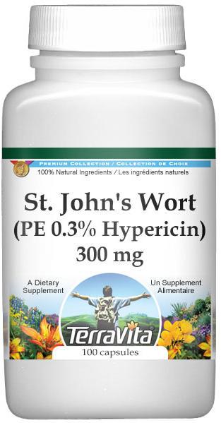 Extra Strength St. John's Wort (PE 0.3% Hypericin) - 300 mg
